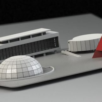 Centro Cultural Oscar Niemeyer Quebra Cabeça 3D Puzzle3D